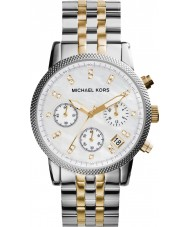 Michael Kors MK5057 Ladies Ritz Two Tone Steel Chronograph Watch