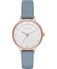 Skagen SKW2497 Ladies Anita Blue Leather Strap Watch