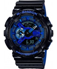 Casio GA-110LPA-1AER Mens G-Shock World Time Black Blue Resin Strap Watch