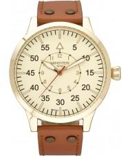 minster 1949 mens bradnor tan leather strap watch