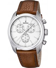Festina F16779-1 Mens Brown Leather Strap Chronograph Watch