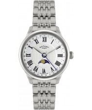 Rotary GB02849-01 Mens Timepieces Beaumont Moonphase White Silver Watch