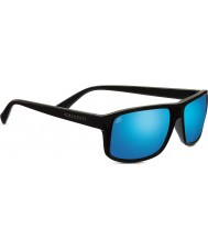 Serengeti Claudio Satin Dark Grey Polarized 555nm Blue Mirror Sunglasses