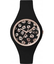 Ice-Watch ICE.SK.BK.S.S.15 Ladies Ice-Skull Small Black Silicone Strap Watch