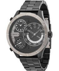 Police 14638XSBU-02M Mens Bushmaster Black Steel Bracelet Watch