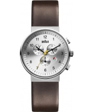 Braun BN0035SLBRG Mens Silver Brown Watch