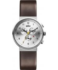 Braun BN0035SLBRG Mens Silver Brown Watch