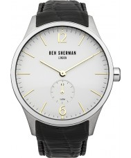 Ben Sherman WB003CR Mens White and Black Leather Strap Watch