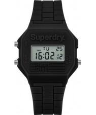 Superdry SYL201B Ladies Retro Digi Black Silicone Strap Watch