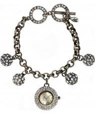 Accessorize J1019 Ladies Stone Set Charm Bracelet Watch