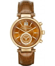 Michael Kors MK2424 Ladies Sawyer Chronograph Whiskey Leather Strap Watch