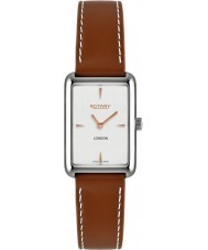 Rotary LS90980-02 Ladies Timepieces London Steel Brown Leather Strap Watch