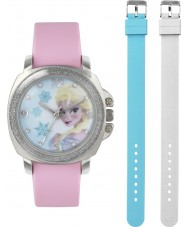 Frozen FZN3637 Girls Elsa Pink Watch with Interchangeable Strap