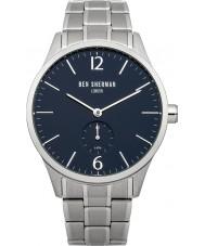 Ben Sherman WB003UM Mens Blue and Steel Bracelet Watch