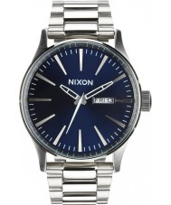Nixon A356-1258 Mens Sentry SS Blue Sunray Watch