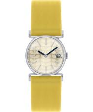 Orla Kiely OK2021 Ladies Cecelia Yellow Leather Strap Watch