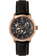 Rotary LE90540-04 Ladies Les Originales Jura Limited Edition Black Skeleton Automatic Watch