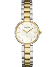 Bulova 98S146 Ladies Diamond Two Tone Steel Bracelet Watch