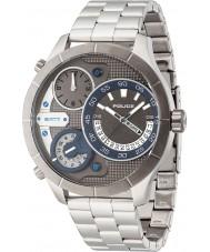 Police 14638XSTU-61M Mens Bushmaster Silver Steel Bracelet Watch