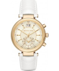 Michael Kors MK2528 Ladies Sawyer White Leather Strap Watch