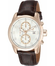 S Coifman SC0310 Mens Brown Leather Chronograph Watch