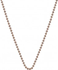 Emozioni CH008 30'' Rose Gold Plated Sterling Silver Bead Chain
