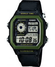 Casio AE-1200WHB-1BVEF Mens World Time Black Combi Watch