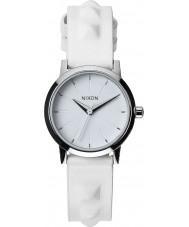 Nixon A398-1811 Ladies Kenzi Leather All White Studded Watch
