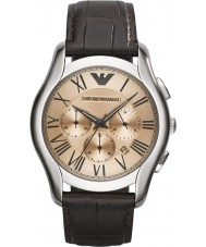 Emporio Armani AR1785 Mens Classic Chronograph Brown Leather Strap Watch