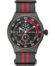 Nautica Mens Black and Red NST 17 Multifunction Watch