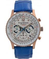 Krug-Baumen 410703DS Mens Air Traveller Diamond Watch