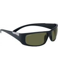Serengeti Fasano Shiny Satin Black Polarized PhD 555nm Sunglasses