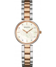 Bulova 98S147 Ladies Diamond Two Tone Steel Bracelet Watch