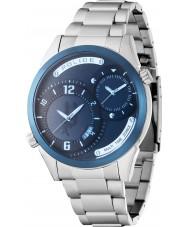 Police 14540JSTBL-13M Mens Dugite Silver Steel Bracelet Watch