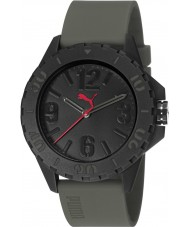 Puma PU103801001 Rock Green Silicone Strap Watch