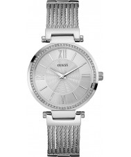 Guess Ladies Soho Silver Steel Bracelet Watch