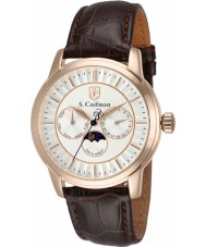S Coifman SC0214 Mens Brown Leather Strap Watch