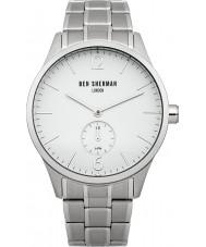 Ben Sherman WB003WM Mens White and Steel Bracelet Watch