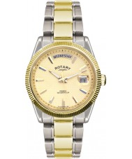 Rotary GB02661-20 Mens Timepieces Havana Silver Gold Watch