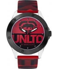 UNLTD by Marc Ecko Mens The Tran Red Watch