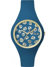 Ice-Watch ICE.SK.DWR.S.S.15 Ladies Ice-Skull Small Deep Water Blue Silicone Strap Watch