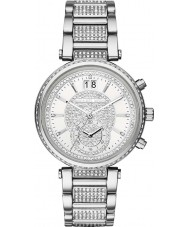 Michael Kors MK6281 Ladies Sawyer Stone Set Silver Tone Chronograph Watch