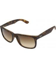 Ray-Ban RB4165 51 Justin Rubber Light Tortoiseshell 710-13 Sunglasses