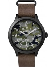 Timex TW4B06600 Mens Scout Brown Leather Strap Watch