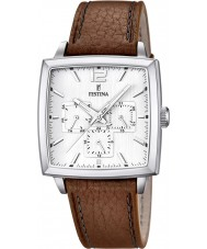 Festina F16784-1 Mens Brown Leather Strap Multifunction Watch