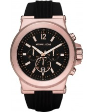 Michael Kors MK8184 Mens Jet Set Rose gold and Black Chronograph Watch