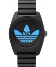 Adidas ADH2877 Santiago Black Blue Silicone Watch