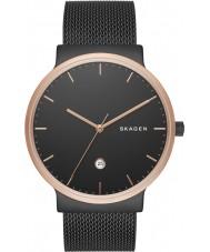 Skagen SKW6296 Mens Ancher Black Steel Mesh Watch