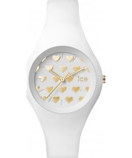 Ice-Watch LO.WE.HE.S.S.16 Ladies Ice-Love Small White Silicone Strap Watch