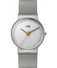 Braun BN0211WHSLMHL Ladies Classic Slim Silver Steel Mesh Bracelet Watch